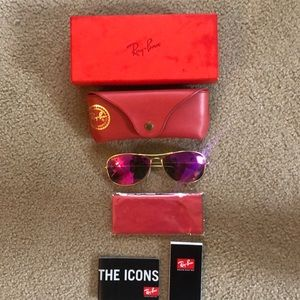 Ray ban Aviators with flash lens